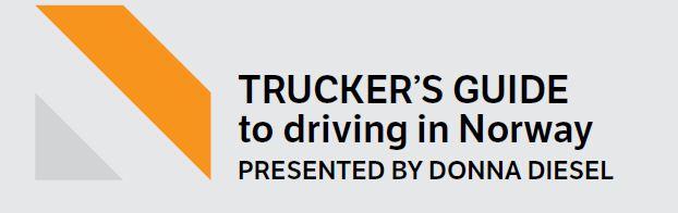Truckers Guide Norway Scandinavie Truckers