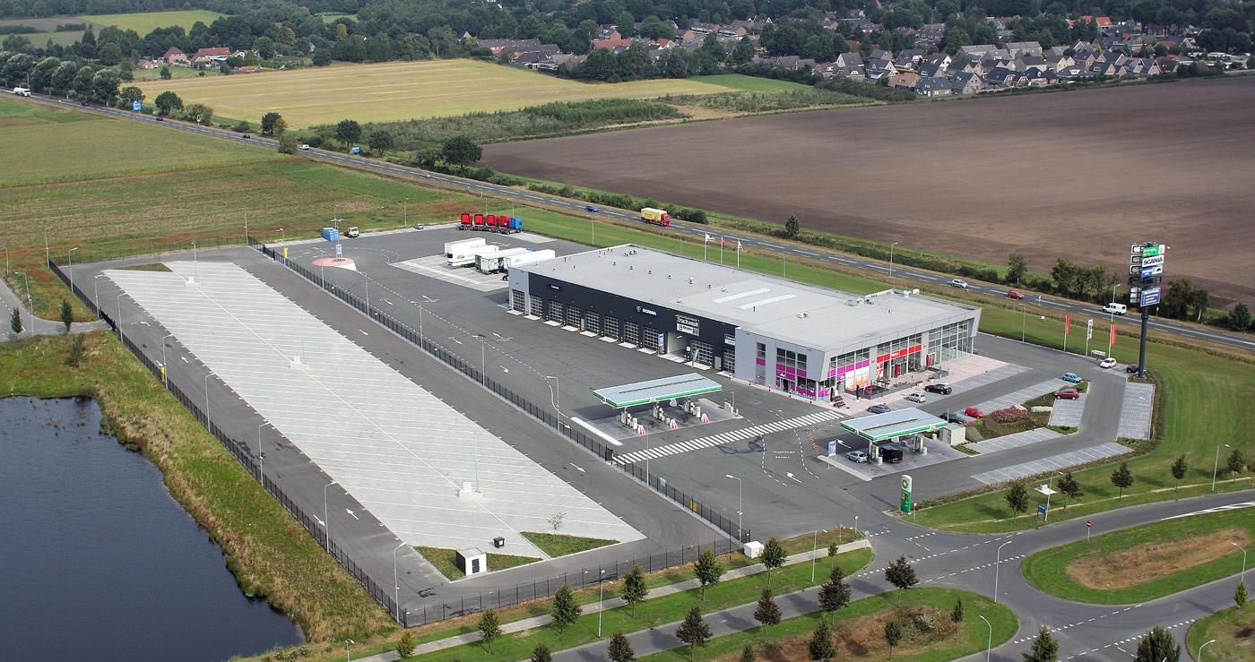 Scandinavie Truckers homebase gevestigd op het terrin van Truckpoint Nederland in Emmen